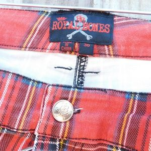 Hot Topic Pants - Royal Bones Hot Topic Red Plaid  Sz 30 Pants
